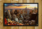Glass Framed Posters, New York Sunset Glass Framed Poster, - PosterGully - 1