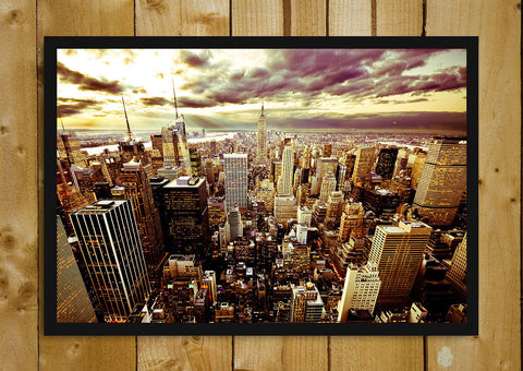 Glass Framed Posters, New York Twilight Glass Framed Poster, - PosterGully - 1