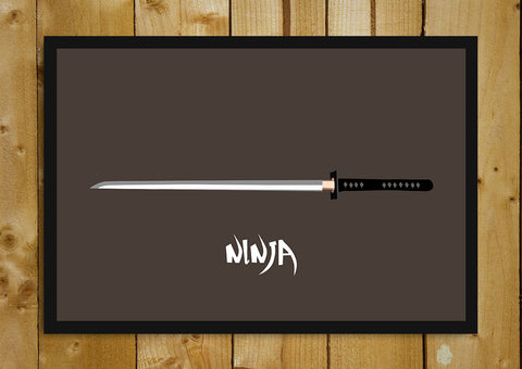 Glass Framed Posters, Ninja Sword Glass Framed Poster, - PosterGully - 1