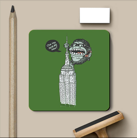 PosterGully Coasters, No Signal Green Coaster | By Captain Kyso, - PosterGully