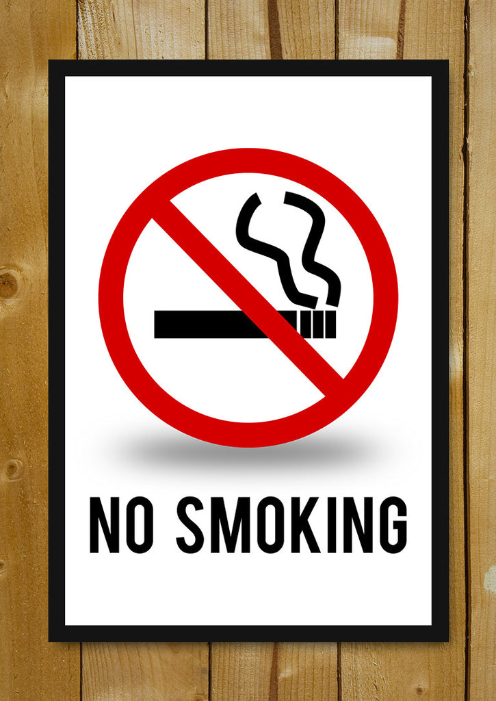 buy framed posters online shopping india no smoking sign glass framed poster postergully. Black Bedroom Furniture Sets. Home Design Ideas