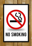 Glass Framed Posters, No Smoking Sign Glass Framed Poster, - PosterGully - 1