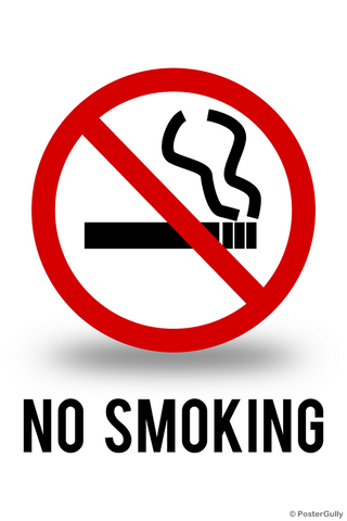 Wall Art, No Smoking Sign, - PosterGully