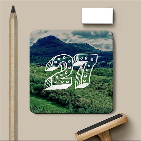 PosterGully Coasters, Number 27 Coaster, - PosterGully