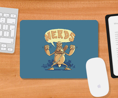 Mousepads, Ogre Hates Nerds Blue Mousepad | By Captain Kyso, - PosterGully