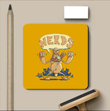 PosterGully Coasters, Ogre Hates Nerds Orange Coaster | By Captain Kyso, - PosterGully