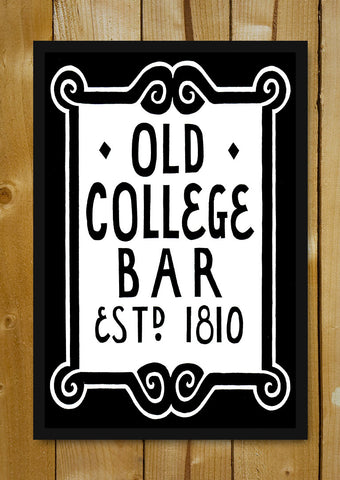 Glass Framed Posters, Old College Bar Glass Framed Poster, - PosterGully - 1