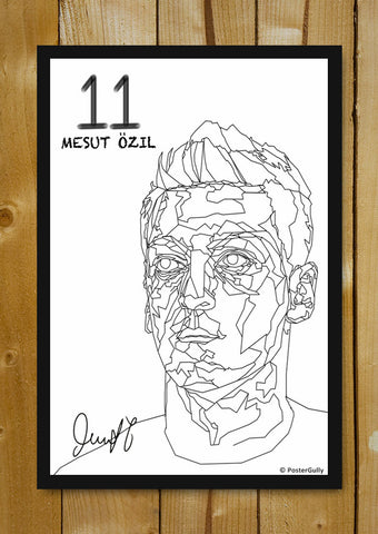 Glass Framed Posters, Ozil Art BW | Glass Framed Poster, - PosterGully - 1