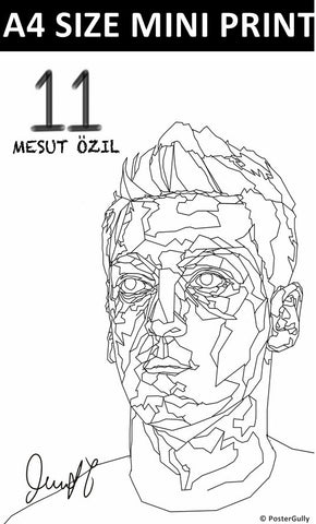 Mini Prints, Ozil Art BW | Mini Print, - PosterGully