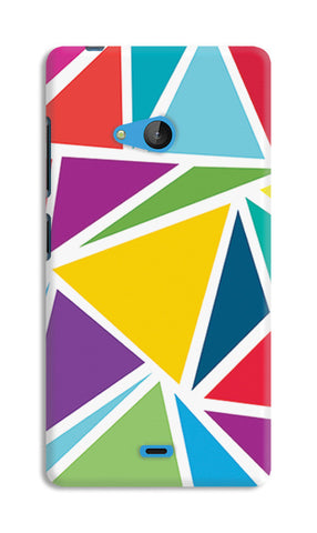 Abstract Colorful Triangles | Nokia Lumia 540 Cases