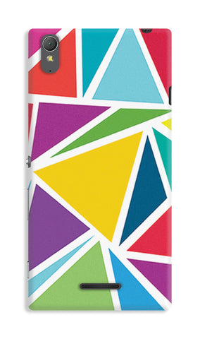 Abstract Colorful Triangles | Sony Xperia T3 Cases