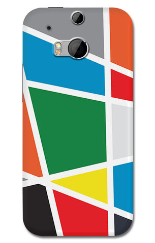 Abstract Colorful Shapes | HTC One M8 Cases