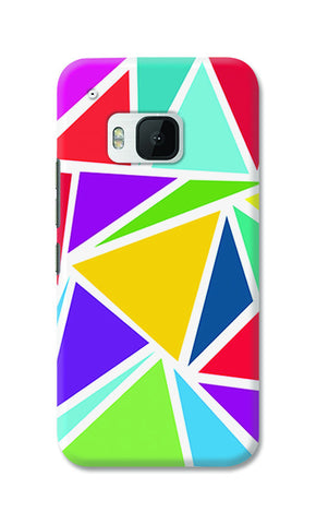 Abstract Colorful Triangles | HTC One M9 Cases
