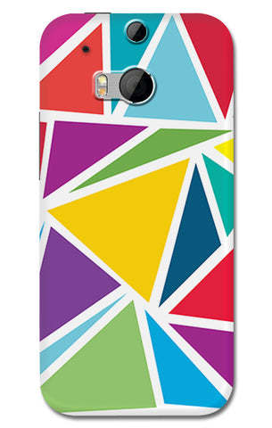 Abstract Colorful Triangles | HTC One M8 Cases