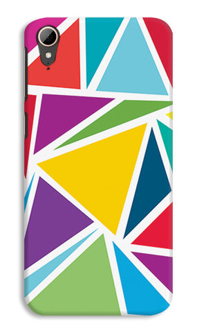 Abstract Colorful Triangles | HTC Desire 828 Cases