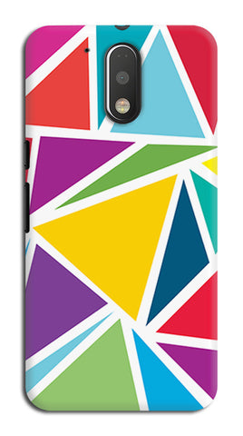 Abstract Colorful Triangles | Moto G4 Plus Cases