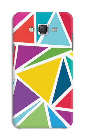 Abstract Colorful Triangles | Samsung Galaxy J7 Cases