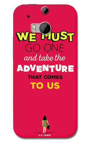Adventures Narnia Typography | HTC One M8 Cases