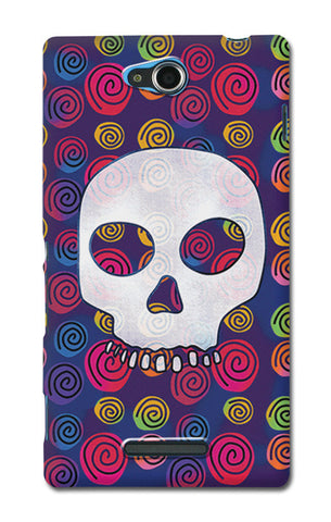 Candy Skull Artwork | Sony Xperia C Cases