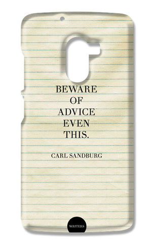 Advice Quote-Carl Sandburg #writers | Lenovo K4 Note Cases
