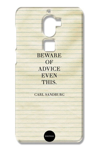 Advice Quote-Carl Sandburg #writers Coolpad Cool One Cases