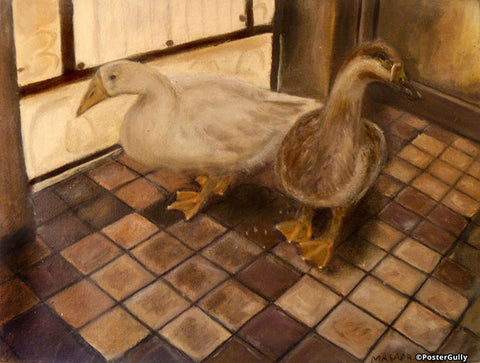 Wall Art, Geese Oil Painting | Artist: Masaad Amoodi, - PosterGully - 1