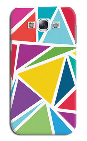 Abstract Colorful Triangles | Samsung Galaxy E7 Cases