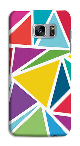 Abstract Colorful Triangles | Samsung Galaxy S7 Cases
