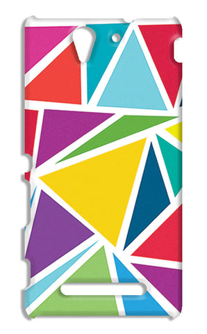 Abstract Colorful Triangles | Sony Xperia C3 S55t Cases