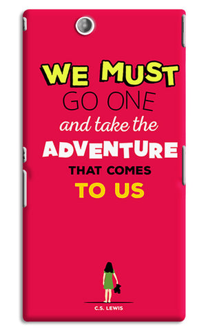 Adventures Narnia Typography | Sony Xperia Z Ultra Cases