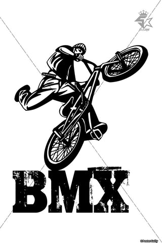 Brand New Designs, BMX Rider | Artist: Sahil Agrawal, - PosterGully - 1