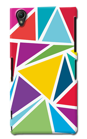 Abstract Colorful Triangles | Sony Xperia Z1 (L39h) Cases