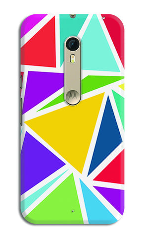 Abstract Colorful Triangles | Moto X Style Cases