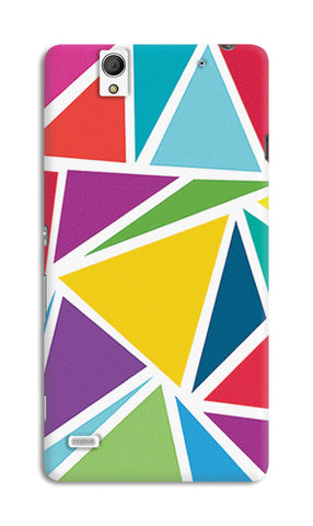 Abstract Colorful Triangles | Sony Xperia C4 Cases