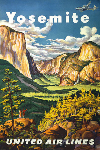 Wall Art, Yosemite United Air Lines, - PosterGully