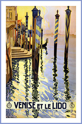 Wall Art, Venise Et Le Lido - Boats, - PosterGully