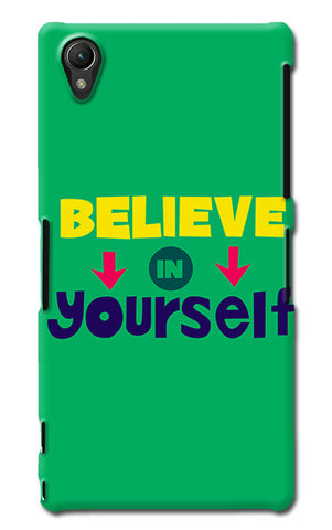 Believe In Yourself Typography | Sony Xperia Z1 (L39h) Cases