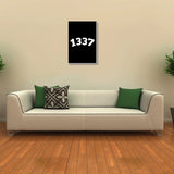 Canvas Art Prints, 1337 Geek Humour Stretched Canvas Print, - PosterGully - 3