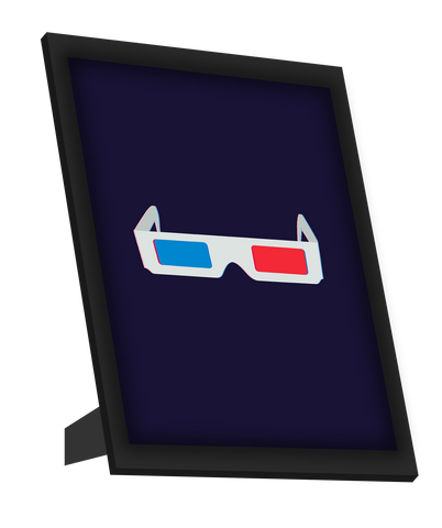 Framed Art, 3D Glasses Framed Art, - PosterGully