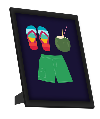 Framed Art, Beach Minimal  Framed Art, - PosterGully