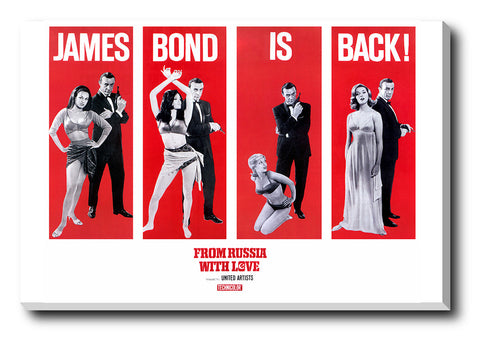 Canvas Art Prints, James Bond Is Back Stretched Canvas Print, - PosterGully - 1