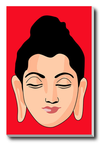 Canvas Art Prints, Buddha Face Stretched Canvas Print, - PosterGully - 1