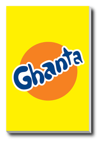 Canvas Art Prints, Ghanta Humour Stretched Canvas Print, - PosterGully - 1