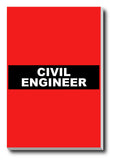 Canvas Art Prints, Civil Engineer Stretched Canvas Print, - PosterGully - 1