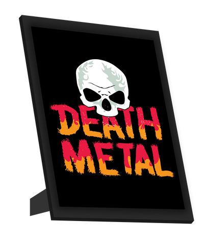 Framed Art, Death Metal Skull Framed Art, - PosterGully