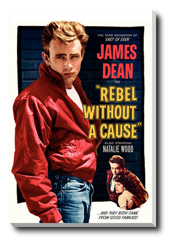 Canvas Art Prints, James Dean Rebel Stretched Canvas Print, - PosterGully - 1
