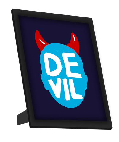 Framed Art, Devil Horns Framed Art, - PosterGully