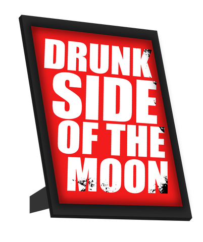 Framed Art, Drunk Side Of The Moon Framed Art, - PosterGully