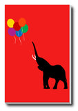 Canvas Art Prints, Elephant And Baloons Stretched Canvas Print, - PosterGully - 1