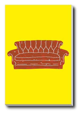 Canvas Art Prints, Friends Sofa Stretched Canvas Print, - PosterGully - 1